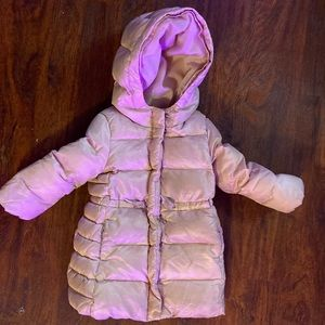 Gap Toddler Puffer Parka Coat Light Ballerina Pink